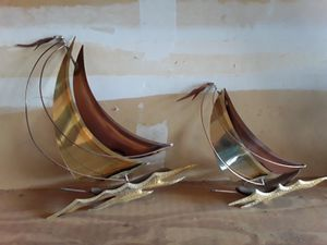 Brass sailboat wall decor for Sale in Kent, WA