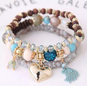 Tassel and Heart Charm Natural Stone Beads Bracelet for Sale in Atlanta, GA