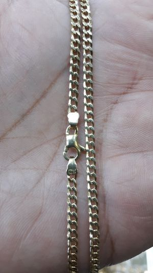 14k gold Cuban link chain hand made 24 inch 3mm 13.5 grams solid for Sale in Los Angeles, CA