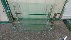 Glass tv stand for Sale in Columbia, TN