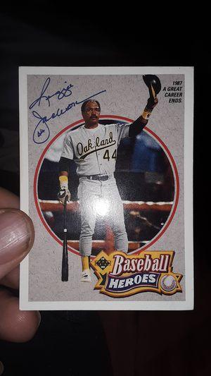 Signed reggie Jackson baseball card for Sale in Fort Meade, FL
