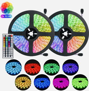 'Brand New' Negotiable LED Strip Light Kit 65.6ft Flexible Tape Lights 5050 SMD RGB 600 LEDs Non Waterproof 20M Rope Light with 44 Keys IR Remote Con for Sale in Oceanside, CA