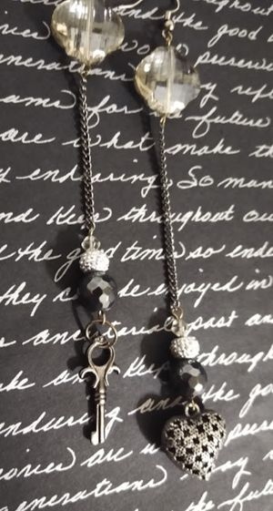 CHECK MY OFFERS**EVERYTHING MUST GO**Handmade Long Key & Heart Charm Earrings for Sale in Tacoma, WA