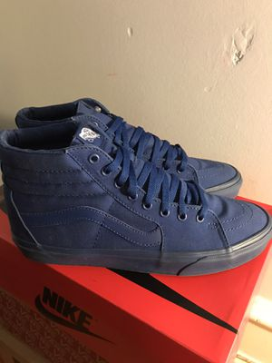 High top blue vans size 10.5 for Sale in Philadelphia, PA
