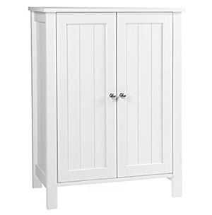 VASAGLE Freestanding Bathroom Cabinet Storage Cupboard Unit with 2 Doors and 2 Adjustable Shelves White for Sale in McDonough, GA