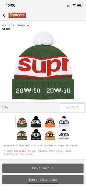 Supreme Green Garage Beanie for Sale in Round Rock, TX