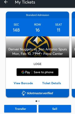 Denver nuggets vs San Antonio Spurs Tickets for Sale in Denver, CO