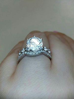 3.10 carat platinum gold diamond engagement ring set for Sale in Atlanta, GA