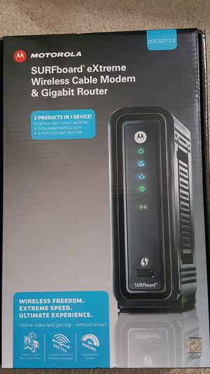 Motorola SURFboard eXtreme Wireless Cable Modem and Gigabit Router for Sale in Pittsburgh, PA