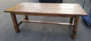 Solid Wood Farmhouse Dining Table for Sale in Vancouver, WA