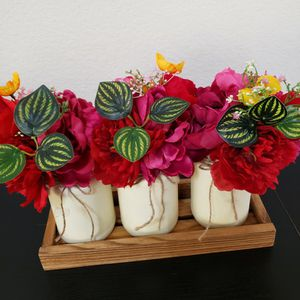 3 Flower Vases With Tray for Sale in Plano, TX