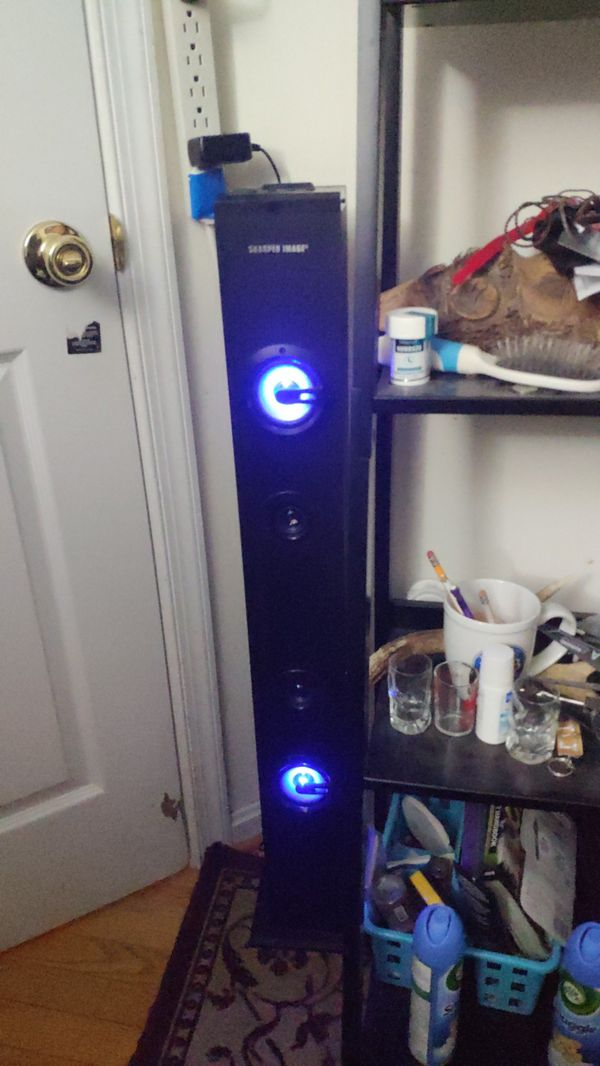 Sharper Image Bluetooth Tower Speaker