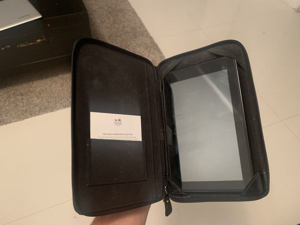 Amazon Kindle with COACH cover