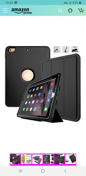 iPad 9.7 2017/2018 case - DUNNO Heavy Duty Full Body Rugged Protective Case with Auto Sleep/Wake Up Stand Folio & Three Layer Design for Apple for Sale in Las Vegas, NV