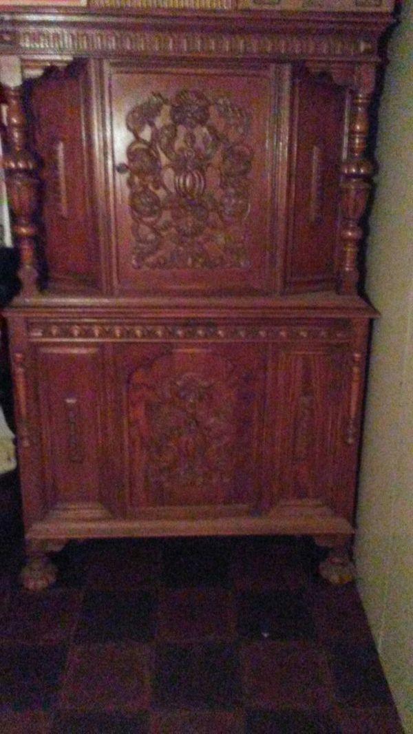 Antique Oak Dining Set 3 piece set.