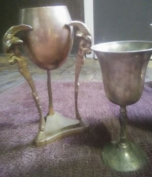 Brass goat chalice goblet set for Sale in Bay Springs, MS