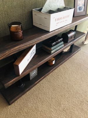Industrial Reclaimed Wood Espresso Bookshelf for Sale in Akron, OH