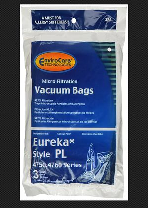 12 Eureka Electrolux Style PL Upright Vacuum Bags, NEW for Sale in Toledo, OH