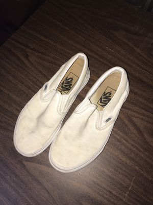 white vans size 3.5 for Sale in Dallas, TX