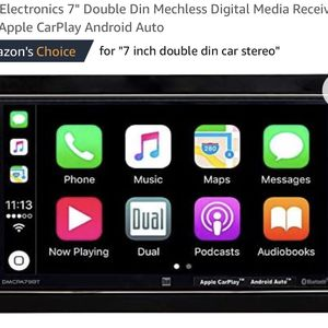 "Dual Electronics 7"" Double Din Mechless Digital Media Receiver with Apple CarPlay Android Auto for Sale in Lehigh Acres, FL"