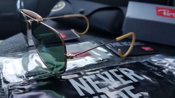 Rayban sunglasses aviator outdoorman 3030 model rat tail