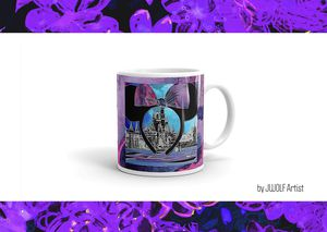 Disney inspired purple Minnie Mouse ears cinderella castle coffee mug for Sale in Gilbert, AZ