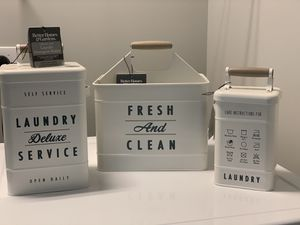 3piece set better homes and gardens laundry room decor for Sale in Ellicott City, MD