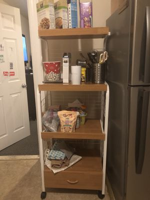 Set of rolling carts, island and microwave carts for Sale in Cliffside Park, NJ