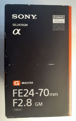 Sony G Master FE 24-70 mm F2.8 GM Full-Frame E-Mount Standard Zoom Lens for Sale in Miami, FL