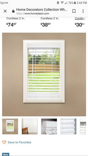 Home decorators 32x48 faux blinds for Sale in Euclid, OH