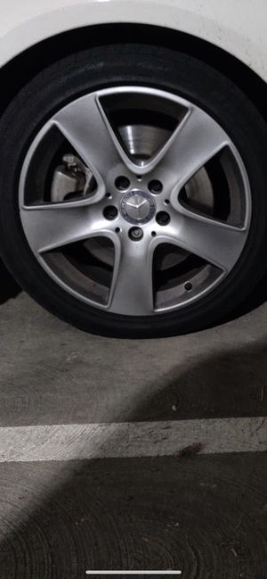 """Mercedes 18"""" new rims tires set cla for Sale in Hayward, CA"""