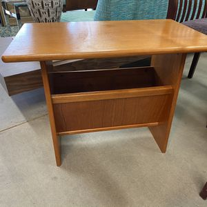 Danish Teak Endtable With Magazine Rack for Sale in Milwaukie, OR