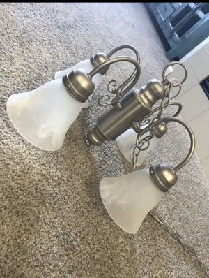 4 Lamp Silver Chandelier for Sale in Aurora, CO