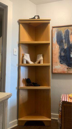 Set of Woden corner bookshelves for Sale in Palm Bay, FL