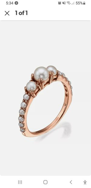 14k Rose Gold Pearl ring June Birthstone Engagement for Sale in Coral Springs, FL