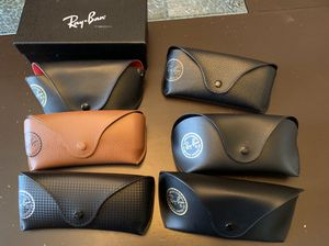 6 Authentic leather RayBan cases, 3 cleaning cloth, 1 box for Sale in Woodbridge, VA