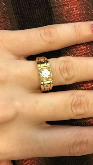 Unisex 18K Gold plated Engagement/Wedding Ring for Sale in West Sacramento, CA