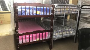 Bunk beds included mattresses twin over twin for Sale in Lebanon, TN