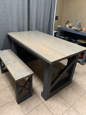 Farmhouse Dining Table+ Benches for Sale in Dinuba, CA