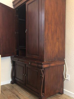 Cherry finish tv armoire for Sale in Surprise, AZ