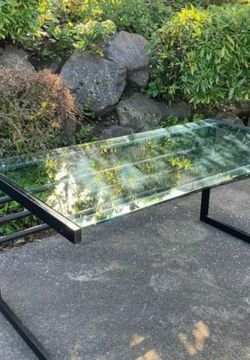 BEAUTIFUL GLASS AND METAL DESK | INDUSTRIAL for Sale in Lake Forest Park,  WA