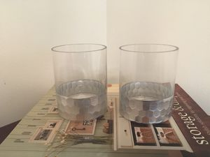 Two Glass and Silver Candle Holders or Tumblers for Sale in St. Petersburg, FL