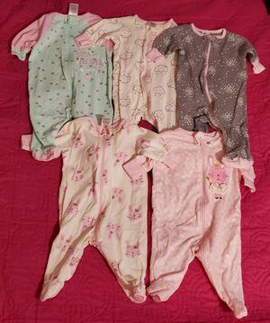 Babygirl onesies/sleepers for Sale in San Bernardino, CA