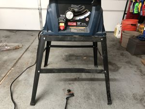 Ryobi rts10 Table Saw with 2 foot stand $65 OBO for Sale in Las Vegas, NV