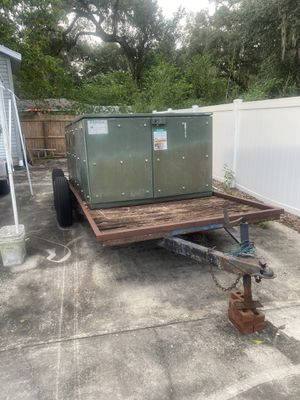 Flatbed trailer w powder coating oven project for Sale in Seffner, FL