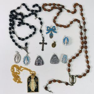 Vintage Necklace Charms Pins Rosary Crucifix Made In Italy Lot for Sale in Penndel, PA