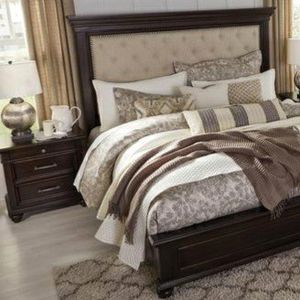 SPECIAL] Brynhurst Dark Brown Upholstered Panel Bedroom Set 🚛SAME DAY DELIVERY /In stock for Sale in Laurel, MD
