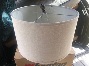 Canvas lamp shade Pier one edition for Sale in Fort Meade, MD
