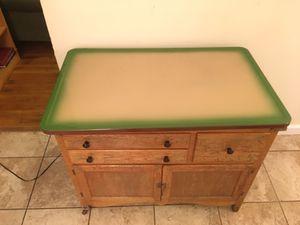 Antique Kitchen Cabinet Island with breadbox drawer for Sale in Richmond, VA