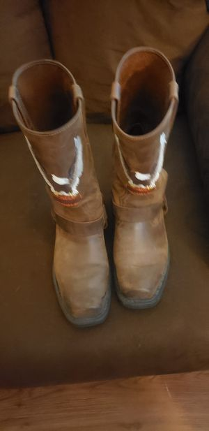 Harley davidson leather riding boots 10m for Sale in Victoria, TX